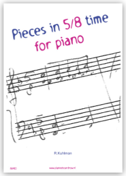 Pieces in 5/8 time for piano